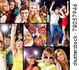 Collection of images from cool party - stock photo