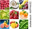 """collection of images on the theme of """"fruits"""" - stock photo"""