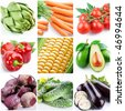"collection of images on the theme of ""vegetables"" - stock photo"
