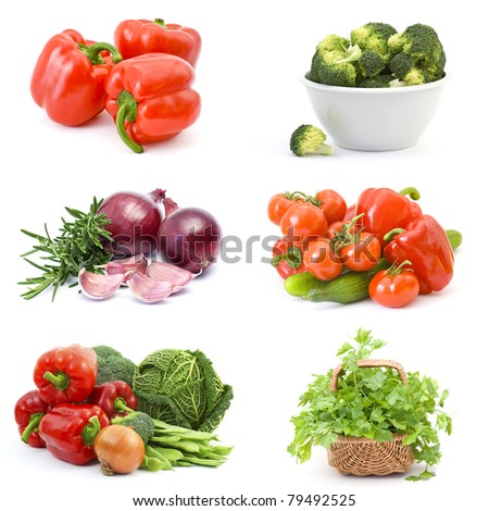"collection of images on the theme of ""vegetables"""