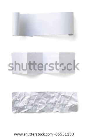 Collection of label paper on white background - stock photo