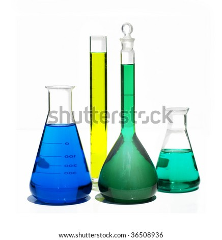 collection of Laboratory Equipment including beakers and flasks