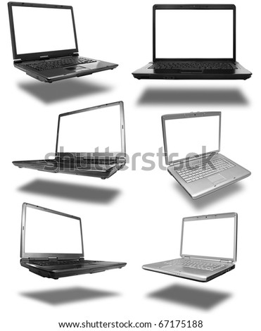 Collection of laptops - stock photo