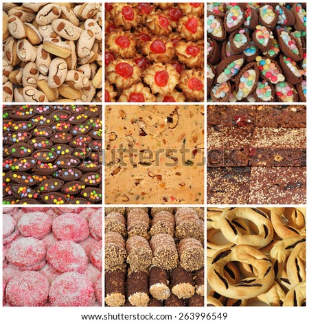 collection of maltese sweets, Malta, Europe - stock photo