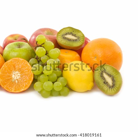 Collection of many fruits - stock photo