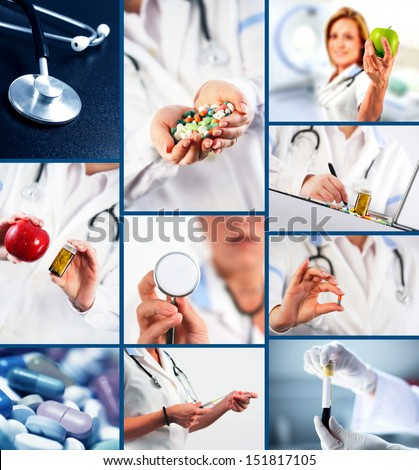 Collection of medical images - stock photo