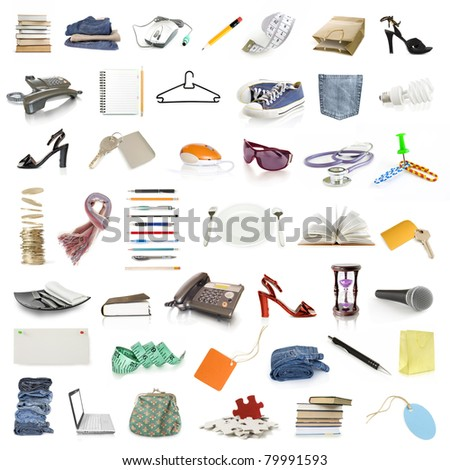 collection of objects - stock photo