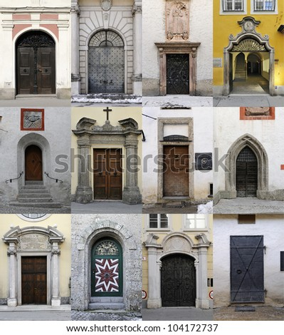 Collection of 12 old doors coming from Salzburg Austria. & Collection 12 Old Doors Coming Salzburg Stock Photo 104172737 ... pezcame.com