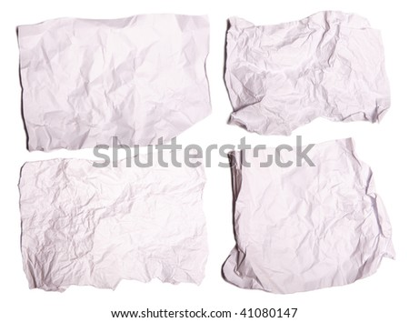 collection of paper on white background. each one is in cameras full resolution - stock photo