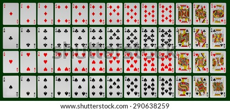 collection of playing cards of all kinds - stock photo