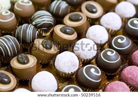 Collection of Pralines - stock photo