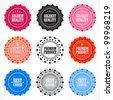 Collection of Premium Quality badges - stock photo
