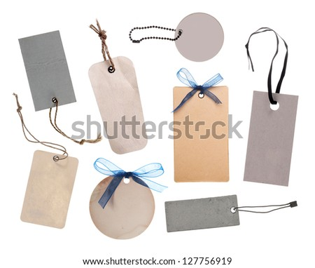 Collection of price tag or address labels - stock photo