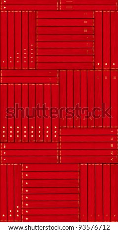 collection of red books- wallpaper, duplicate vertical or horizontal - stock photo