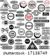 Collection of rubber stamps. - stock photo
