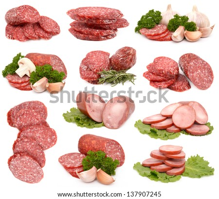 Collection of sausages