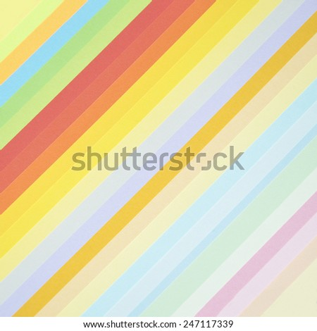 Collection of sheets of colored paper