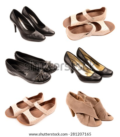 collection of shoes - stock photo