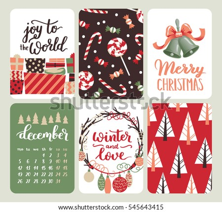 collection nine christmas cards greeting card stock vector 505274578 shutterstock. Black Bedroom Furniture Sets. Home Design Ideas