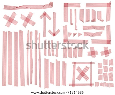 Collection of striped masking tape. - stock photo