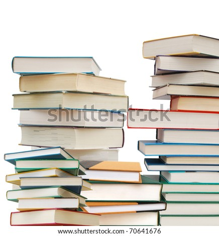 Collection of studying books - stock photo
