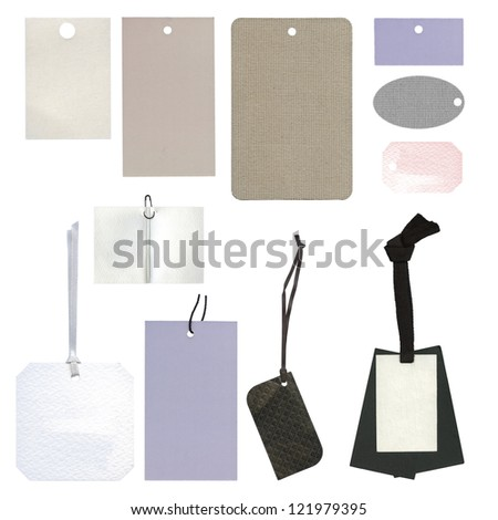 Collection of tags or label - stock photo