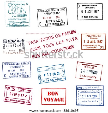 Collection of the Passport Stamps