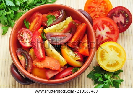 Collection of tomatoes  - stock photo