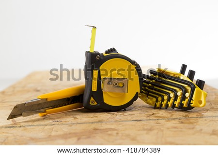 collection of tools on a bright background