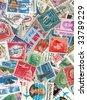 Collection of US vintage postmarks - stock photo