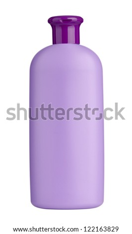 collection of  various beauty hygiene containers on white background with clipping path - stock photo