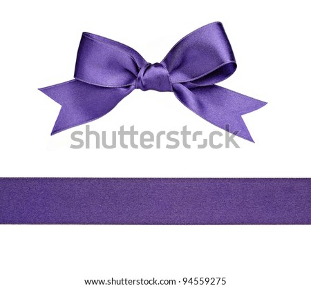 collection of  various knot and ribbon on white background. each one is shot separately - stock photo