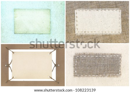 Collection of various labels, ready for your message. - stock photo