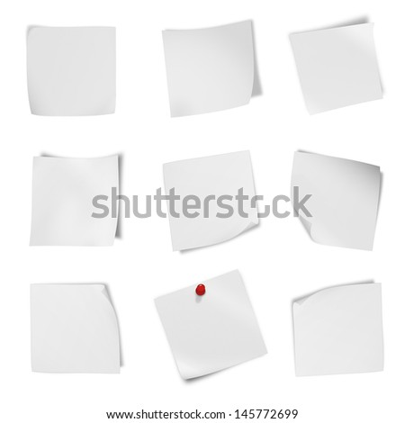 collection of various leaflet blank whitcollection of various leaflet blank white paper on white background. each one is shot separately e paper on white background. each one is shot separately