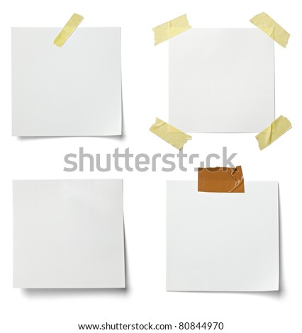 Collection Various White Note Papers Curled Vector 422724772 – Collection Note