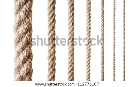Collection of various ropes - stock photo