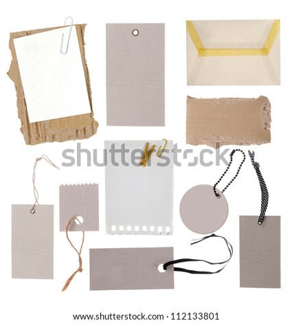 Collection of various tags - stock photo