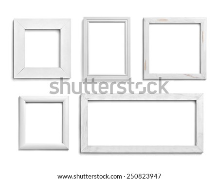 Collection Various White Wood Frames On Stock Photo (Download Now ...