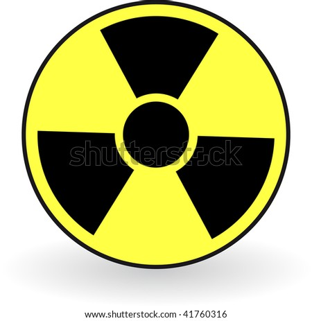 Collection of vector illustrations of radiation. Rasterized versions. - stock photo