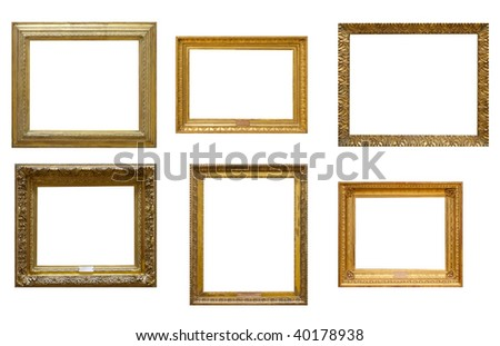 Collection of vintage frames