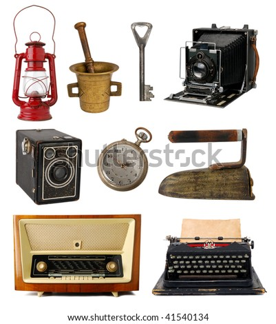 Collection of vintage objects - stock photo