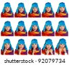 collection of woman expressions , full resolution single images available separately in my gallery - stock photo