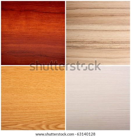 Collection of wood background - stock photo