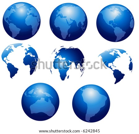 Collection of world globes