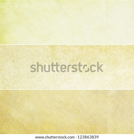 Collection of yellow abstract vintage backgrounds. Various textures. - stock photo