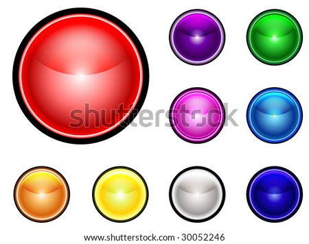 Collection on Colorful buttons -