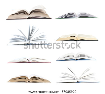 collection open book - stock photo
