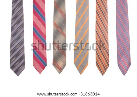 collection ties - stock photo
