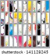 Collection Vertical banners. Raster version - stock photo