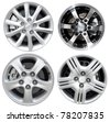 collections car rims, isolated over white background - stock photo